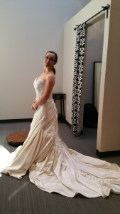 dancer wedding gown