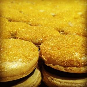Gold Chocolate Cinnamon Macs