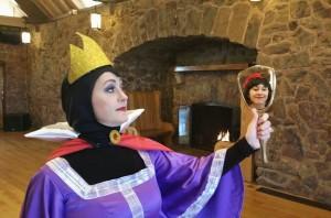 Evil queen grimhilde and mirror