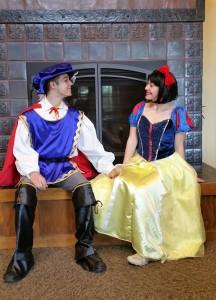 Snow White and Ferdinand fireside Boettcher Mansion