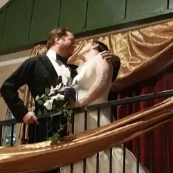 Castle balcony kiss