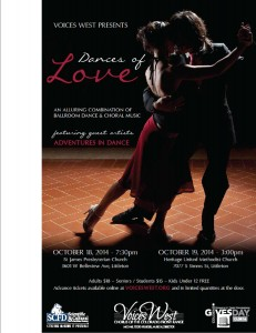 Ballroom and Latin dance performance With Adventures in dance and voices west