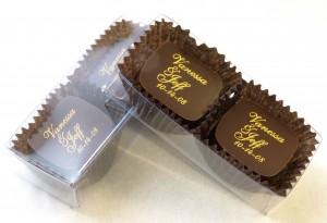 Gormet chocolate two pack wedding favor