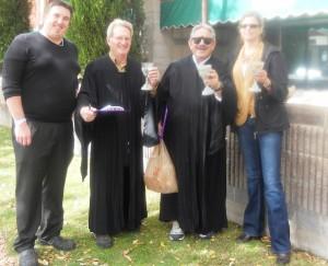 judges Greg Moody and a Mayor Dallas Hay from Sheridan