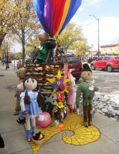 Wizard of oz pumpkin poles historic littleton