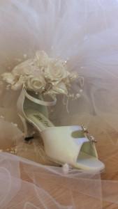 ballroom dance wedding shoe and roses in Littleton Co south of Denver