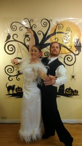Holly and Craig Winter white Ballroom delight