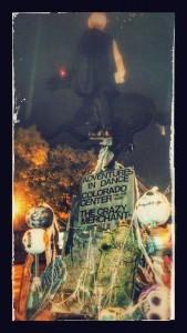 Headless horseman pumpkin pole historic Downtown Littleton