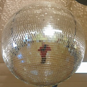 mirror ball in Littleton south of Denver, north of Highlands Ranch, east of Centennial