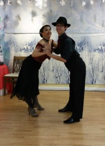 retro ballroom dancers