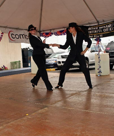 www 09 blues girls dancing west coast Swing
