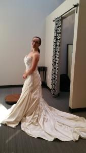 dancer wedding gown