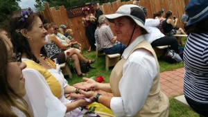 Exchanging of vows as Rosie Cotton and Samwise Gamgee