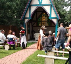 wedding at the colorado renaissance festival