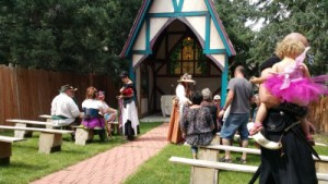 wedding at the colorado renaissance festival