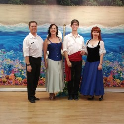sailor, Ursula, Eric, Ariel, dance