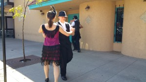Flappers dance at littleton scavenger hunt
