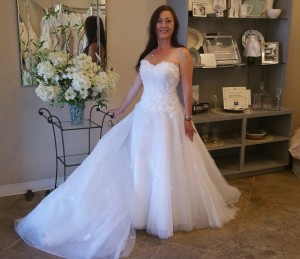 off the rack wedding gown