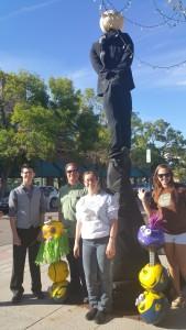 Gru and the minions pumpkin pole
