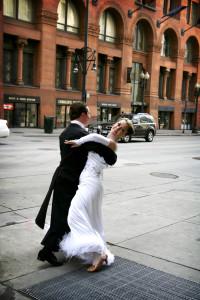 Dancing on the street wedding