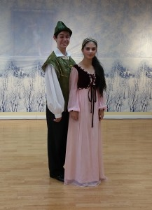 Robin Hood and Maid Marion ready to dance