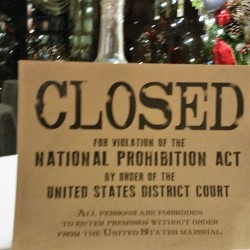 closed for prohibition