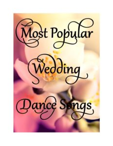 Most popular wedding dance songs