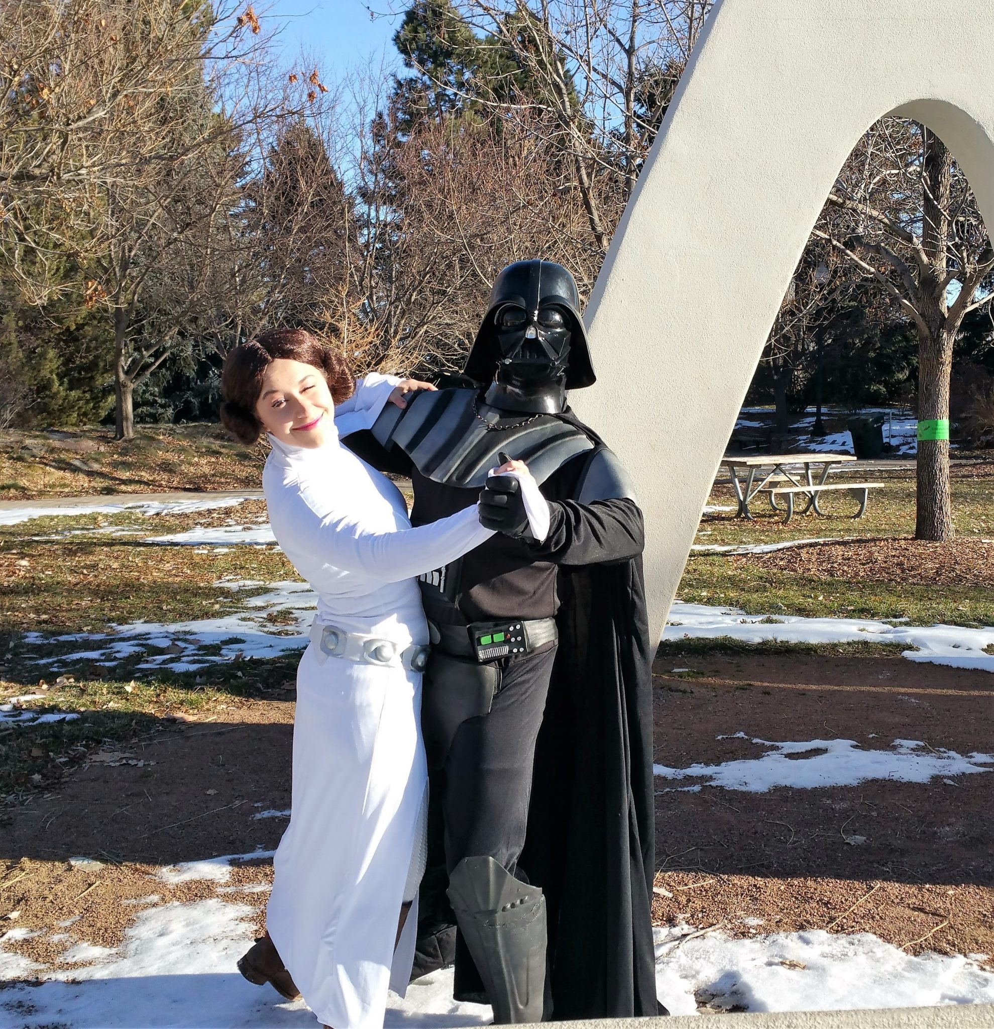 Darth Vader dancing with daughter Leia