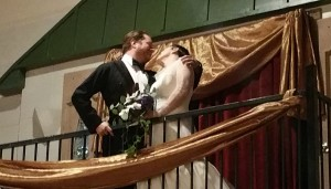 Castle balcony kiss