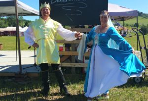 King Arthur and Queen Genevieve Medieval dance