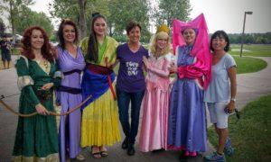 Dancing princesses at benifit