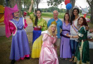 Dancing princesses with Littleton council memeber
