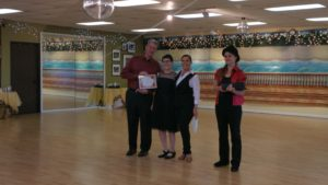 Dave and Bridget dance award