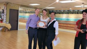 Chris and Emily dance award