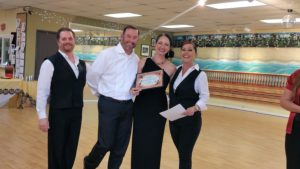 Ron and Chelly dance award