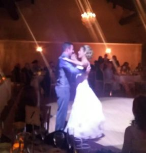 Troy and jen rock their reception with a first dance