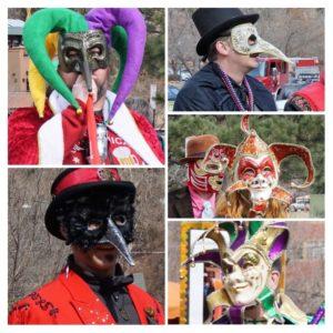Mardi Gras dance masks