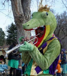 Mardi Gras Gator musician