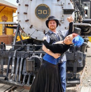 Steampunk dance and train