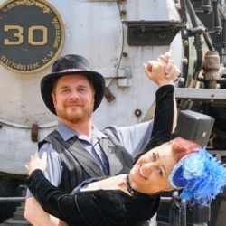 Colorado Railroad Museum Steampunk dance