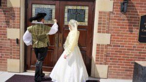 knocking on the church door