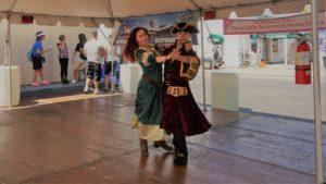 Merida and Pirate dance Western Welcome Week