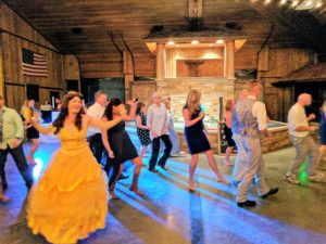 Wedding line dance with Belle