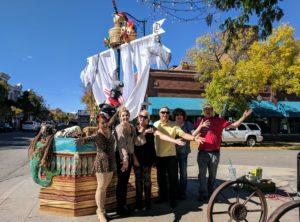 Pirates of the carribean pumpkin pole team