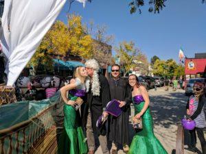 pumpkin pole judges and mermaids