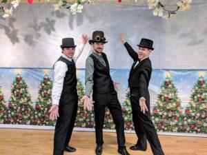 Victorian gentlemen snow ball