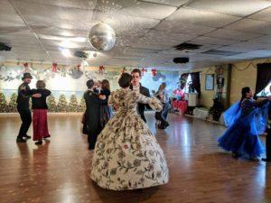 Victorian snow ball dance