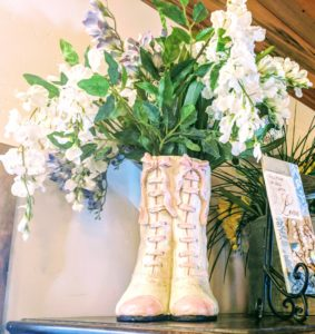 Victorian boots and blooms