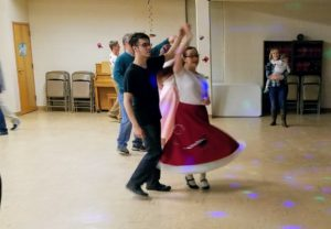 50s sock hop spin