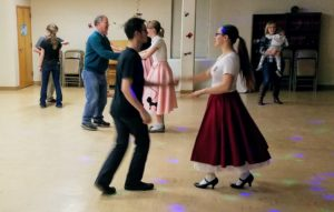 sock hop dancers